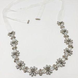 BHLDN Flower Crystal Embellished Bridal Sash